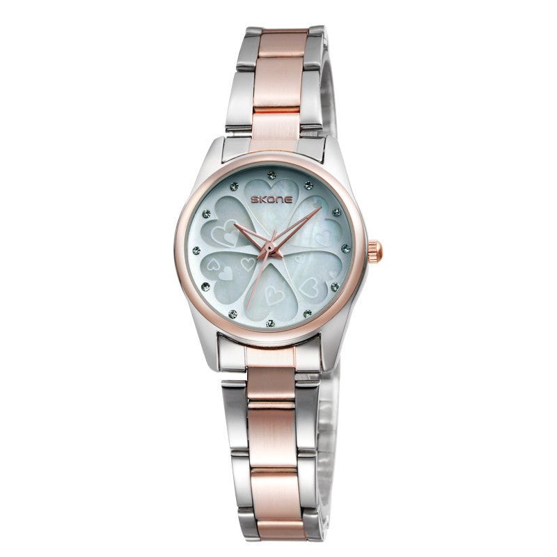 SKONE Women Watch Dress Casual Watch Stainless Steel Strap Japan Analog Display Quartz Watch Women's Wristwatch