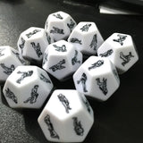 Sexy game gambling adult love romance 12 sided sex dice 2 pieces