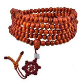 Sandalwood Beads Buddha Buddhist Meditation Mala Prayer Bracelet