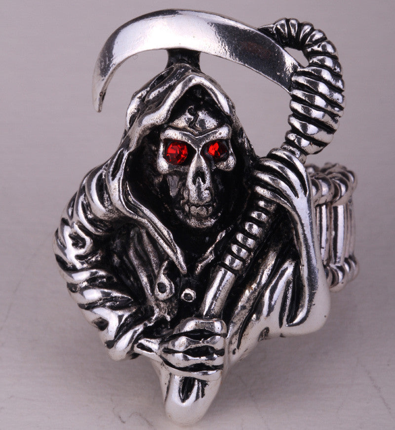 Skeleton skull ring stretch women biker jewelry halloween gift for women girls kids