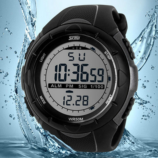 Sports Military Watches LED Digital Man Brand Watch, 5ATM Dive Swim Dress Fashion Outdoor Men Boys Wristwatches