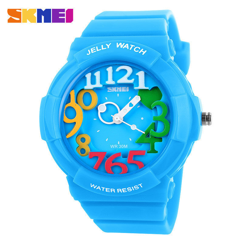 Skmei Unisex Fashion Quartz Watch Dive Swim 30m Waterproofed Sports Watch boys girl's Children's Watches Students Wristwatches