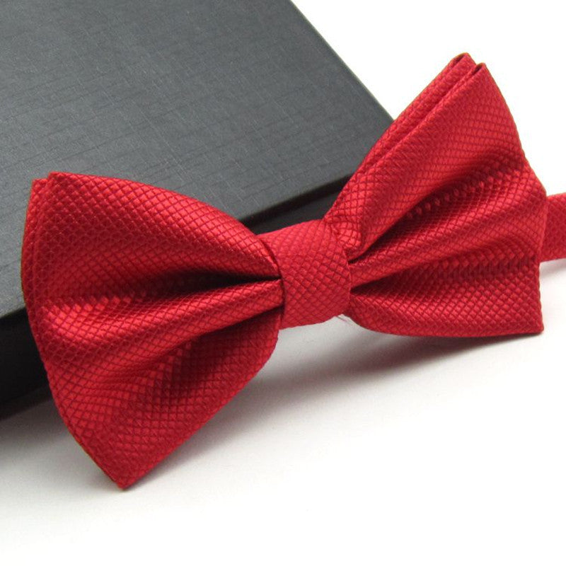 Solid Fashion Bowties Groom Men Colourful Plaid Cravat gravata Male Marriage Butterfly Wedding Bow ties