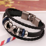 South Korea Fashion Popular Beaded /Wax /Skull /Anchor Rope Stainless Steel Accessories Charm Bracelet Punk Men Jewelry