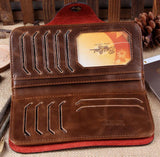 New Men's Vintage Wallet Fine Bifold Brown Genuine Leather & Pu Bailini Purse Wallets For Men