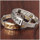 Stainless Steel Jewelry Luxury Bracelets For Men Fashion Gold Silver Color Men's Bangle Bracelet Birthday Gift