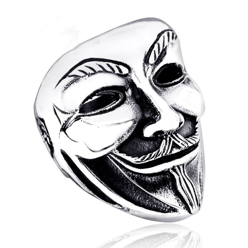 Stainless Steel Ring New V for Vendetta V Mask Ring Jewelry