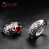Steel soldier New Arrival blue stone Fashion Stainless Steel Jewelry exquisite titanium steel men ring