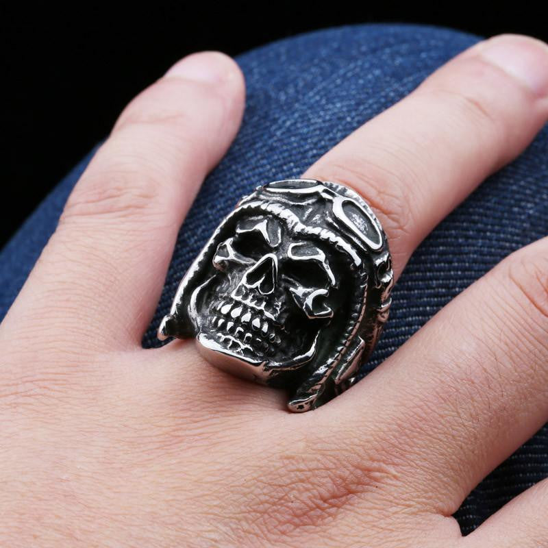 Steel soldier new style stainless steel skull astronaut ring for ...
