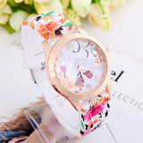Summer Style Fashion Flower Watches Women Dress Quartz Watch Wristwatches Reminino Relogio Clocks Women Watches