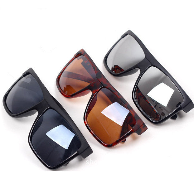 Super Cool Big Square frame Flat top new fashion sunglasses women men sun glasses