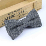 Superior Classical Formal Wool Cotton Bow Tie Gravata Multiple Colors Houndstooth Pattern Necktie Mens Luxury Tie Tweed Bowtie