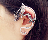Fashion New Gothic Old Bronze Plated/Old Silver Dragon Design Earring