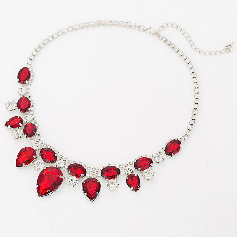 TOP Pendants Necklace For Women Exquisite Rhinestone Pendant Necklace Fashion Collar Jewelry red carpet necklace