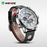 WEIDE Men's Sports Watch Quartz Back Light Wristwatch Military Fashion Casual Dive Watches for Men