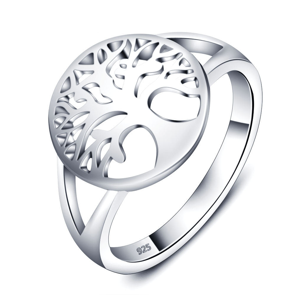 Tree of Life Classic Accessories 925 Sterling Silver Rings For Women New Fashion Rings
