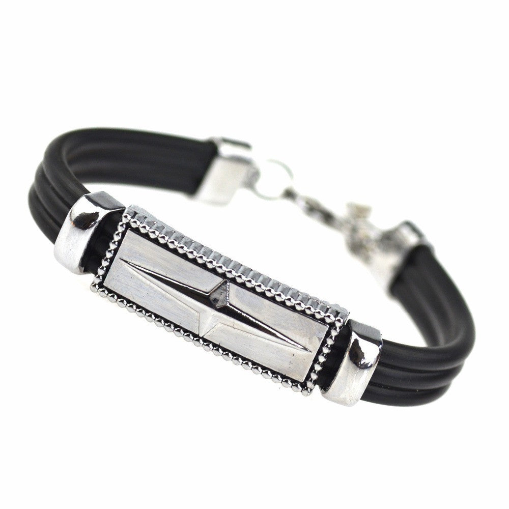 Trenty Summer Style Jewelry Titanium Steel Bracelet Shining Cross Bracelets & Bangles Men Jewelry