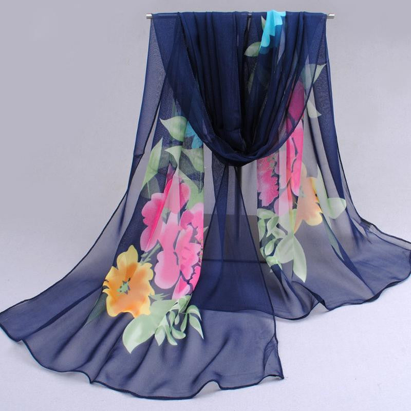 Ultralarge new chiffon silk scarf women's spring and autumn accessories scarf autumn and winter thermal scarf