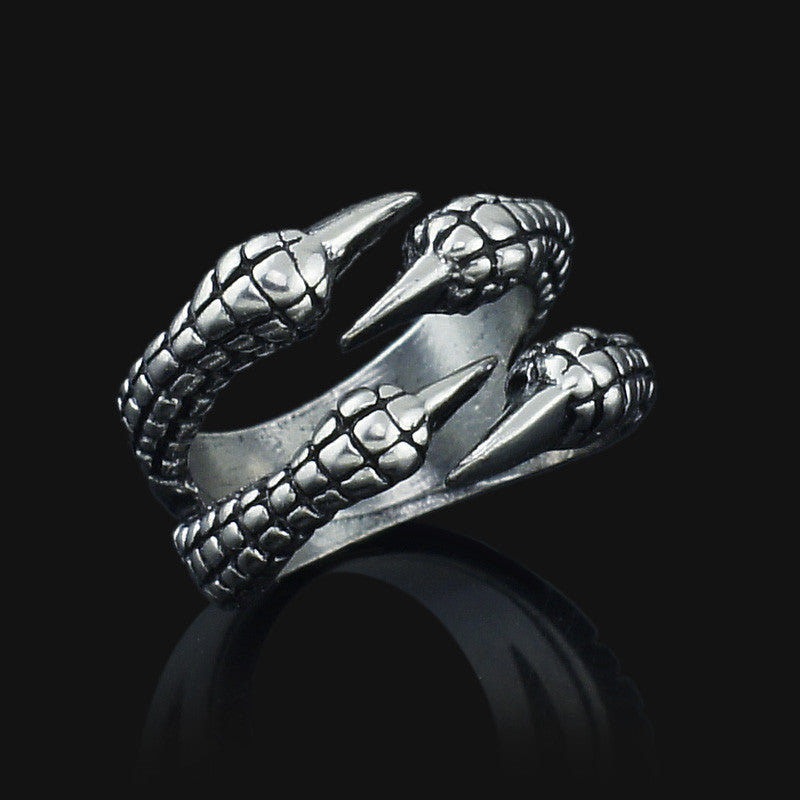 Unisex Women's Men's Eagle Claw Gothic Titanium Stainless Steel Gothic Punk Biker Ring