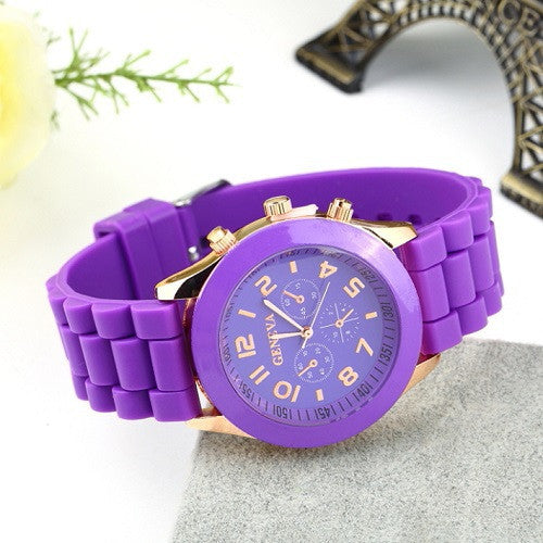 Unsex Geneva Casual Watch Women Dress Watch Quartz Military men Silicone watches Unisex Wristwatch Sports watch