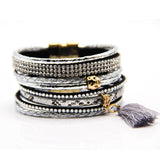 Various fashion styles magnetic leather bracelet women handmade bangles friendship jewelry gift items