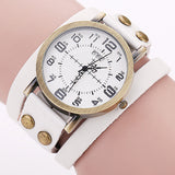 Vintage Cow Leather Bracelet Watch High Quality Women WristWatch Luxury Casual Quartz Watch