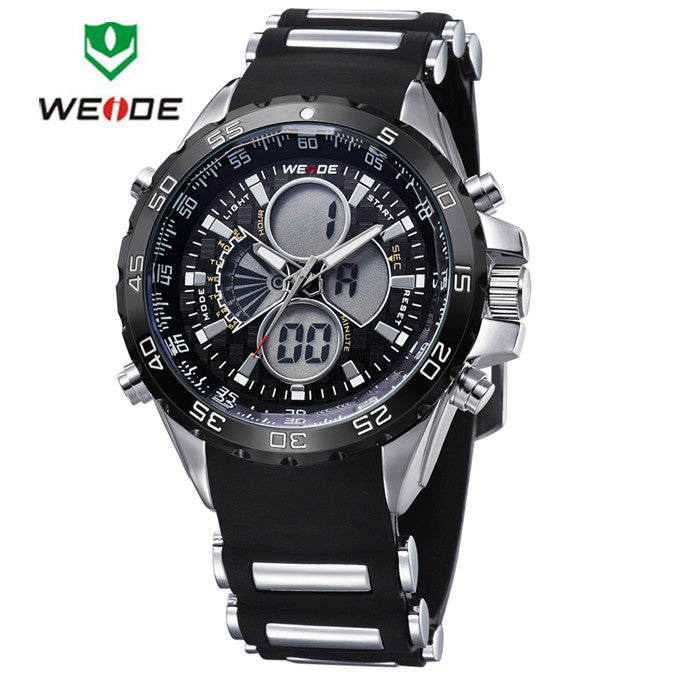 WEIDE Brand Luxury Sports Watches Men Quartz Digital Military Watch Multifunction LCD Display Outdoor Sports Dress Wristwatches