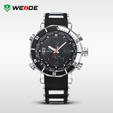 WEIDE Men Sports Watches Waterproof Military Quartz Digital Watch Alarm Stopwatch Dual Time Zones Brand New