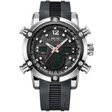 WEIDE Mens Watches LED Digital Military Watch Men Waterproof 3ATM Sport Quartz-watch Pu Strap Top Brand Luxury