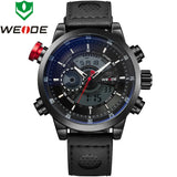 WEIDE Origina Bestselling Sports Watches Men Genuine Leather Strap Wristwatches With Logo Waterproof Red Watch For Men Dress