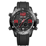 WEIDE Watches Men Luxury Brand Top Stainless Steel Wrist Band Analog Alarm Stopwatch Digital Display Fashion Mens Casual Watch