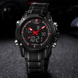 Watches men NAVIFORCE brand Sport Full Steel Digital LED watch reloj hombre Army Military wristwatch
