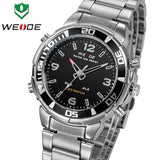 Watches men WEIDE brand casual Business Quartz Digital LED reloj hombre Army Military Sport wristwatch