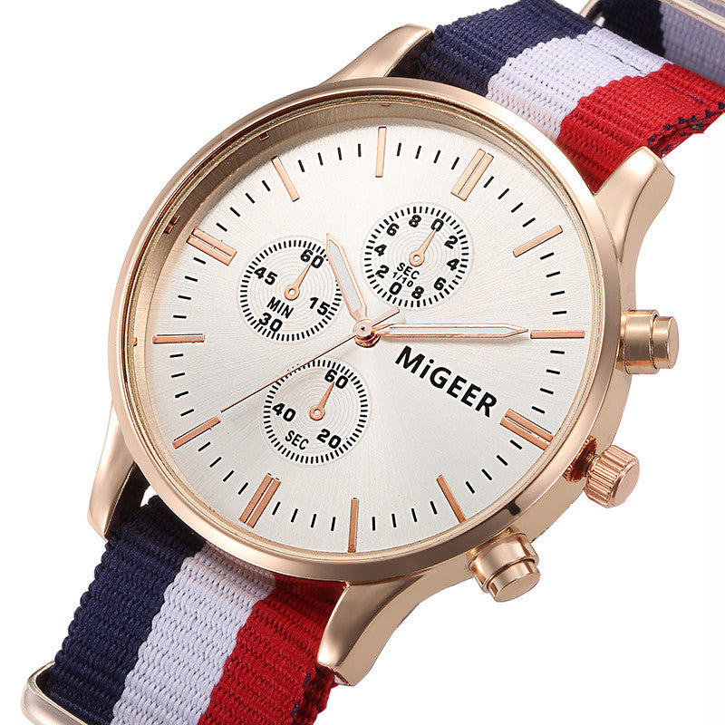 Watches Men Luxury Brand Rose Gold R-watch Nylon Strap 40 mm Men Wristwatches Fashion Quartz watch Relogio Masculino