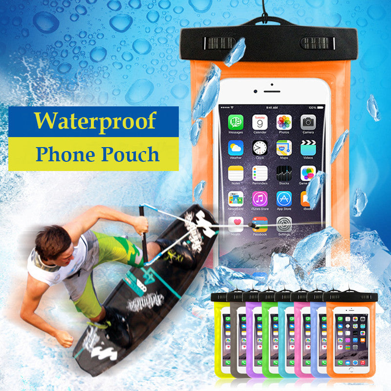 Waterproof Mobile Phone Bags with Strap Dry Pouch Cases Cover for Samsung galaxy S7 for iPhone 6 5S SE 6S Plus Swimming Case