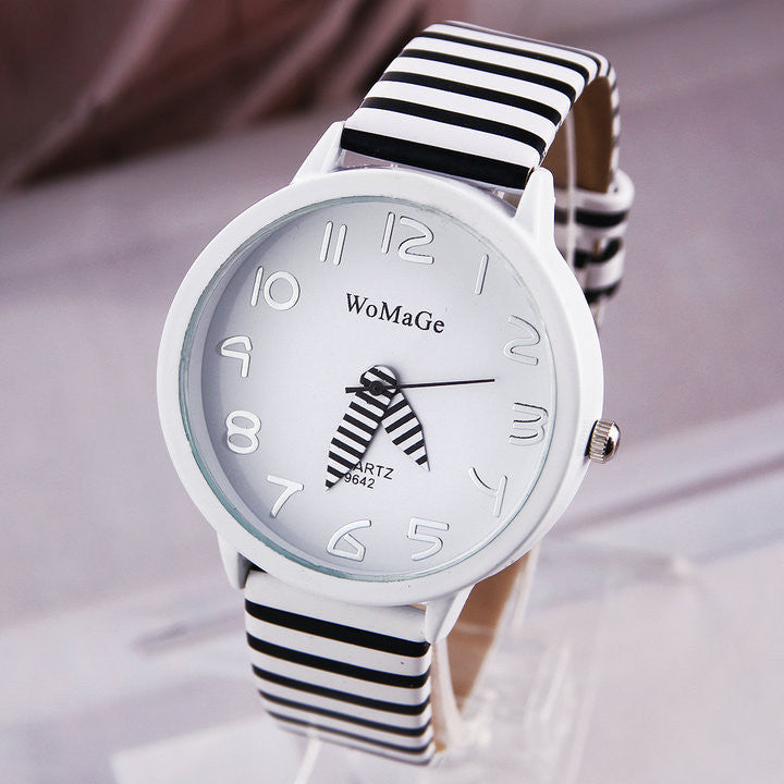 Fashion WaMaGe Casual Watches Ladies Quartz Watch Fashion Zebra Strap Analog Wristwatch Sports watch Women Dress watch