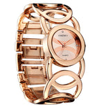 Women Quartz Fashion Watch Analog Display Rose Gold Watch Band Round Dial Gift For Lady Women Dress Watches Relogios Femininos