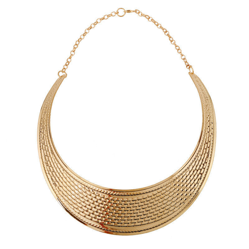 Women Statement Necklace Charm Fashion Gold Plated Choker Necklace European Style Punk Collar Jewelry Collier Femme