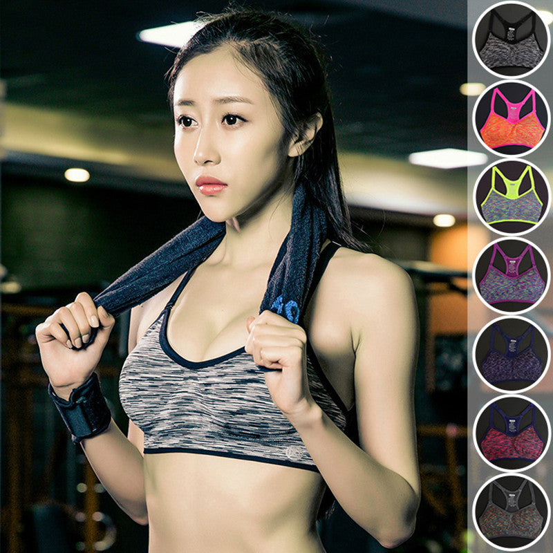 Women's Adjustable Spaghetti Straps Professional Sportes Bra ,Fast absorption Sweat Seamless Top Vest Padded Underwear