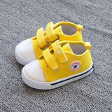 Fashion children shoes kids sneakers baby boys and girls canvas shoes velcro candy spring autumn