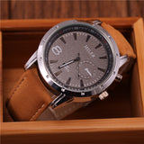Miler Brand Mens Watches Top Brand Luxury Quartz Male Clock Casual Leather Band Watch Military Wristwatch Relogio Male