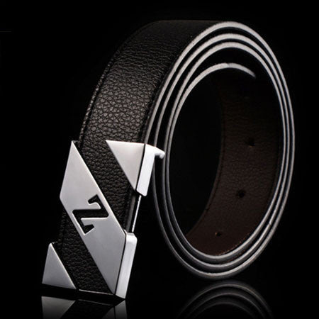 cinturones hombre brand belts for men ceinture high quality faux leather Metal buckle leather belt men