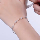 fashion crystal bracelet for women newest gift in jewelry vintage 925 sterling silver bracelet bangles fine jewerlry