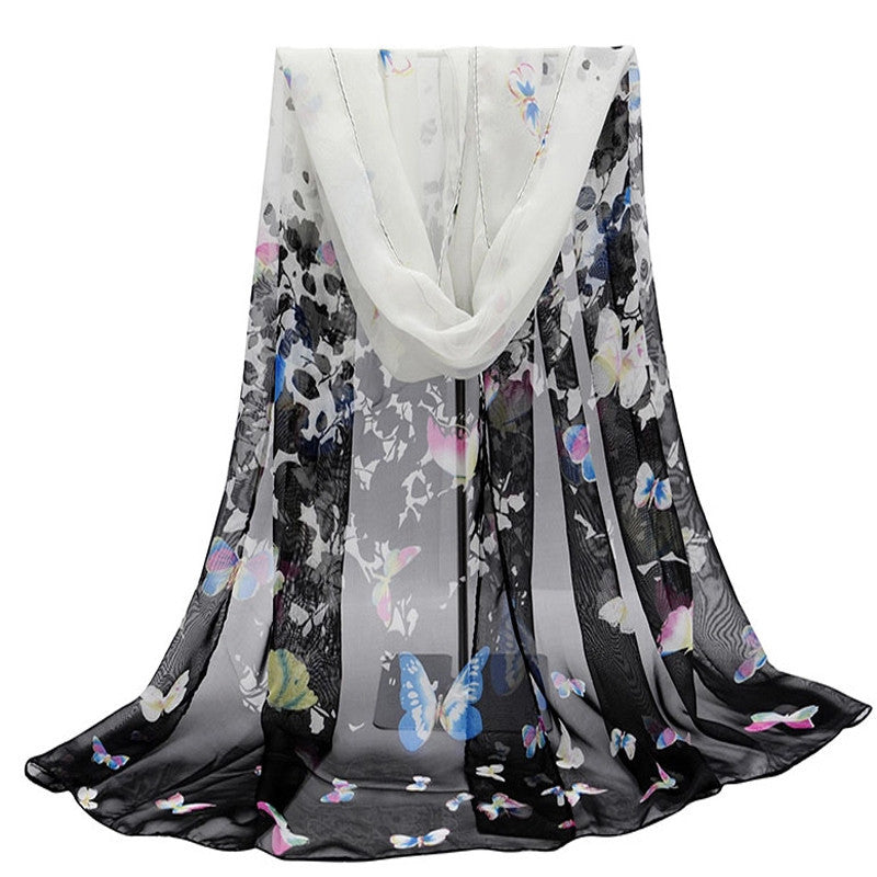 Fashion scarves female shawls super long chiffon korean decorative fabric