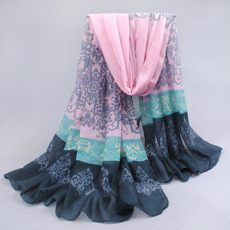 Hot sell fashion Totem female thin long design cotton scarf women's autumn and winter bali yarn oversized beach towel