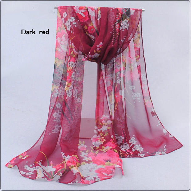 Hot wonderful flower long soft scarfs wrap shawl for elegant women han edition scarf scarves shawls