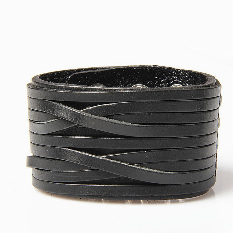 Leather bracelet high quality punk cowhide bracelet fashion jewelry 100% genuine leather handmade jewelry