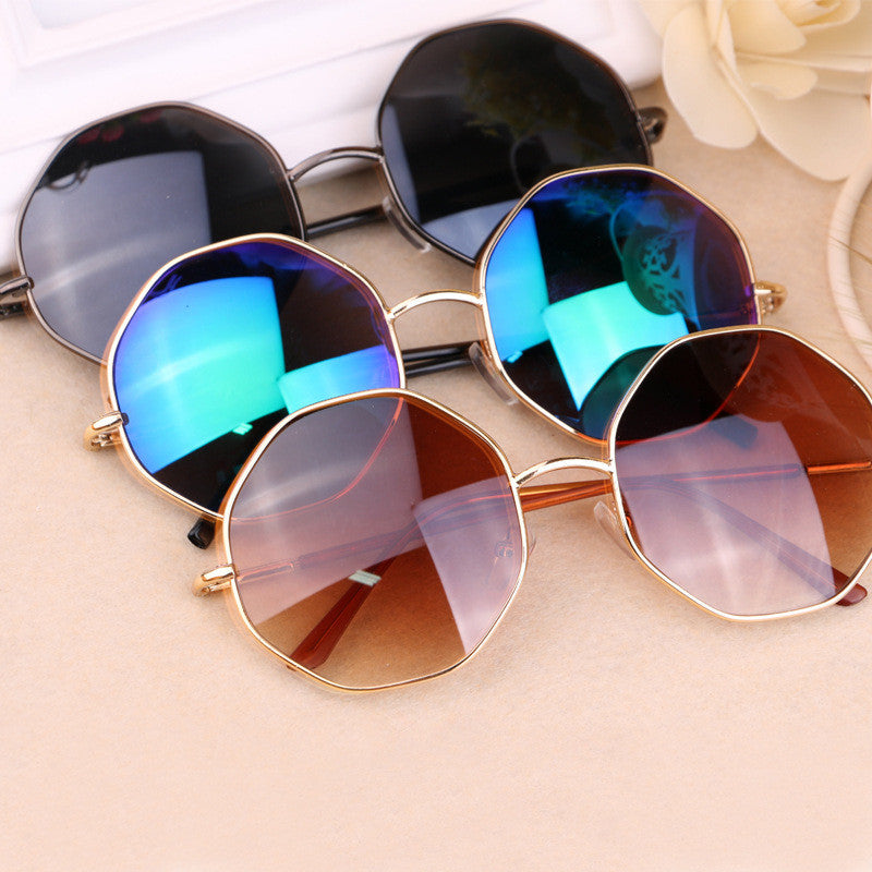 New fashion sunglasses for men women Classic Hexagon color film retro sun glasses brand vintage band sunglasses