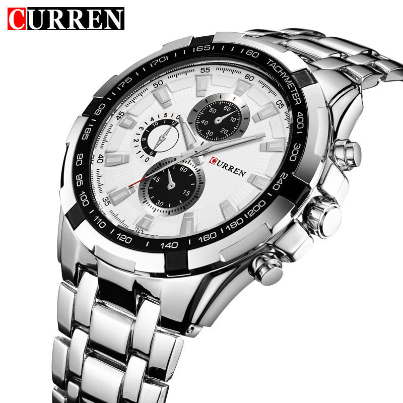 New fashion Curren brand design casual stainless steel military men clock army sport male gift wrist quartz business watch