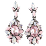 Non-discolouring Design Lady Bib Statement clear crystal long Ear earring